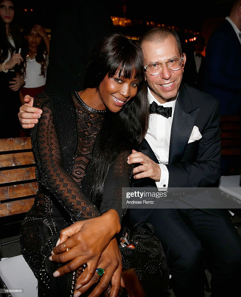 Model Naomi Campbell and Chairman of Conde Nast International Jonathan Newhouse attend the gala dinner at the Armani Pavilion during Vogue Fashion Dubai Experience on October 10, 2013 in Dubai, United Arab Emirates.