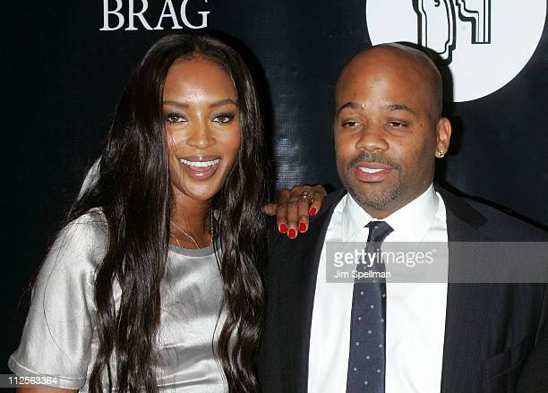 Model Naomi Campbell and Damon Dash attend the 37th Annual Black Retail Action Group Inc Scholarship and Awards Dinner at Cipriani Wall Street on...