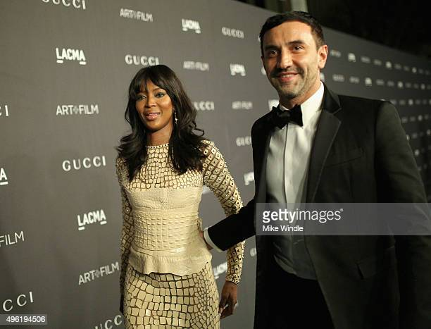Model Naomi Campbell and Designer Riccardo Tisci attend LACMA 2015 ArtFilm Gala Honoring James Turrell and Alejandro G Iñárritu Presented by Gucci at...