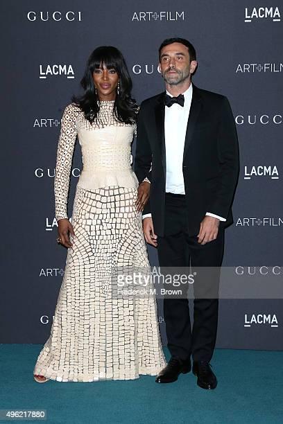 Model Naomi Campbell and Designer Riccardo Tisci attend LACMA 2015 ArtFilm Gala Honoring James Turrell and Alejandro G Iñárritu Presented by Gucci at...
