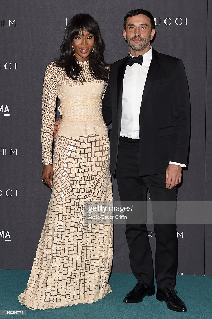 Model Naomi Campbell and designer Riccardo Tishi arrive at the LACMA 2015 ArtFilm Gala Honoring James Turrell And Alejandro G Inarritu Presented By...
