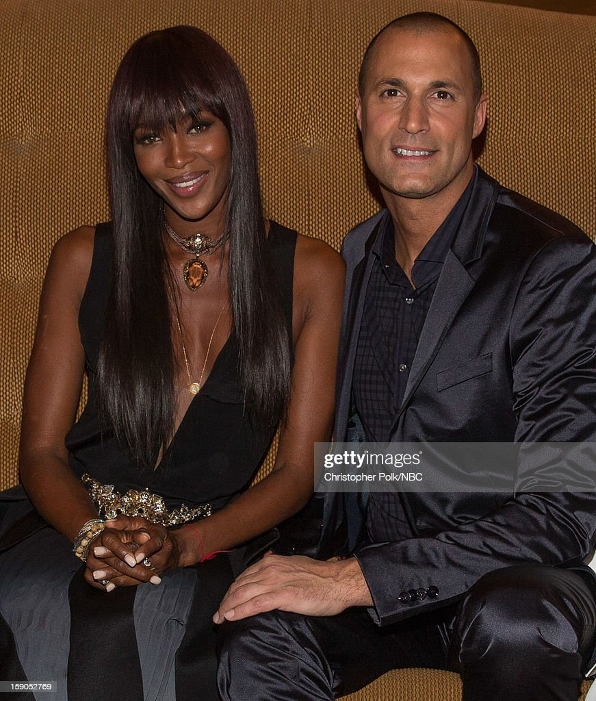 Model Naomi Campbell and TV Personality Nigel Barker at the NBCUniversal 2013 TCA Winter Press Tour Party held at The Langham Huntington Hotel and...