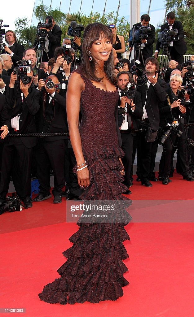 Model Naomi Campbell and Vladimir Doronin attend 'The Beaver' Premiere during the 64th Cannes Film Festival at the Palais des Festivals on May 17...