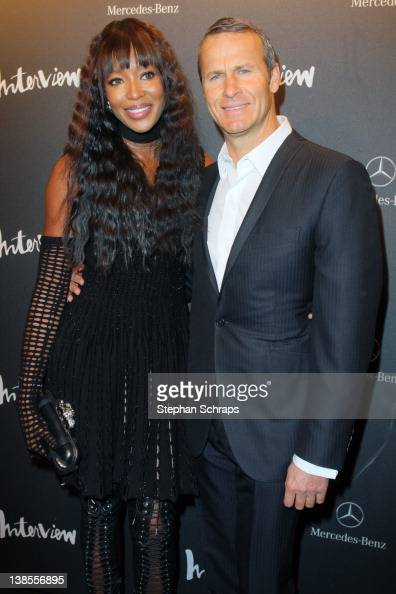 Model Naomi Campbell and Vladislav Doronin attend the INTERVIEW Germany Launch Party at Auguststrasse 11 on February 08 2012 in Berlin Germany