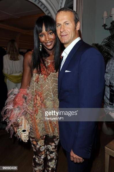 CANNES FRANCE MAY 15 Model Naomi Campbell and Vladislav Doronin attend the Vanity Fair and Gucci Party Honoring Martin Scorsese during the 63rd...