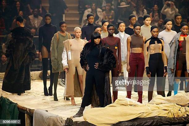Model Naomi Campbell appears onstage during Kanye West Yeezy Season 3 on February 11 2016 in New York City