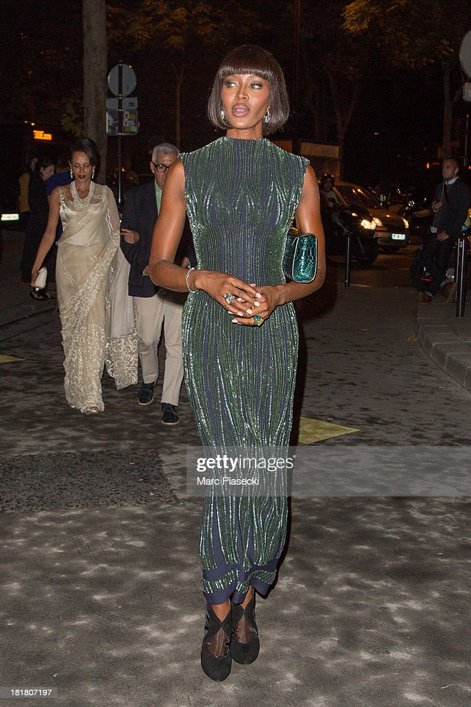 Model <a gi-track='captionPersonalityLinkClicked' href=/galleries/search?phrase=Naomi+Campbell&family=editorial&specificpeople=171722 ng-click='$event.stopPropagation()'>Naomi Campbell</a> arrives at the 'Azzedine Alaia exhibition' at Palais Galliera on September 25, 2013 in Paris, France.