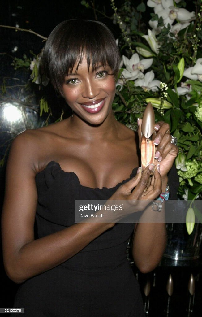 Model Naomi Campbell at her Naomi Campbell Pure Perfume by Naomi Campbell launch party held at Mr. Chow's restaurant on February 6, 2001 in London. (Photo by Dave Benett/Getty Images).