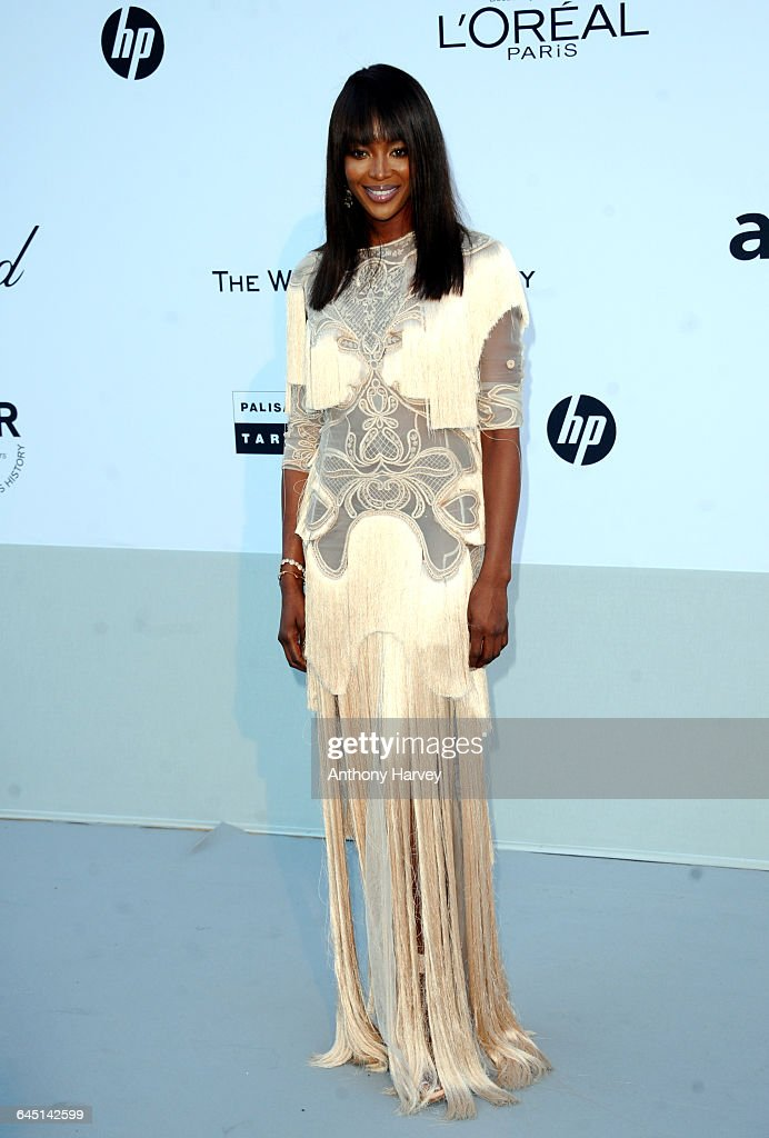 Model Naomi Campbell attends amfAR's Cinema Against AIDS Gala during the 64th Annual Cannes Film Festival at Hotel Du Cap on May 19 2011 in Antibes...