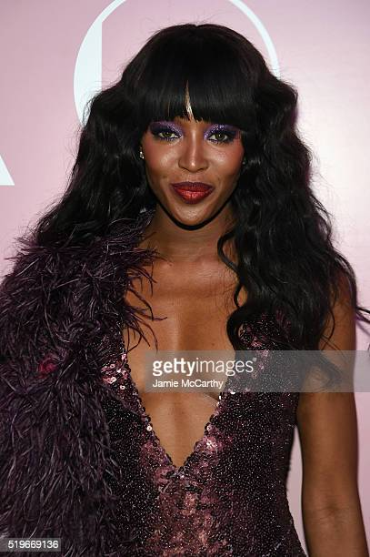Model Naomi Campbell attends as Marc Jacobs Benedikt Taschen celebrate NAOMI at The Diamond Horseshoe on April 7 2016 in New York City