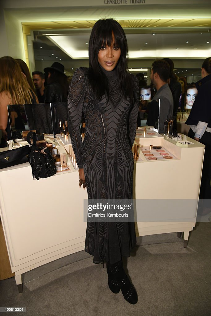 Model <a gi-track='captionPersonalityLinkClicked' href=/galleries/search?phrase=Naomi+Campbell&family=editorial&specificpeople=171722 ng-click='$event.stopPropagation()'>Naomi Campbell</a> attends Charlotte Tilbury Arrives In America: VIP Beauty Launch event presented by Bergdorf Goodman 5th Avenue on October 7, 2014 in New York City.