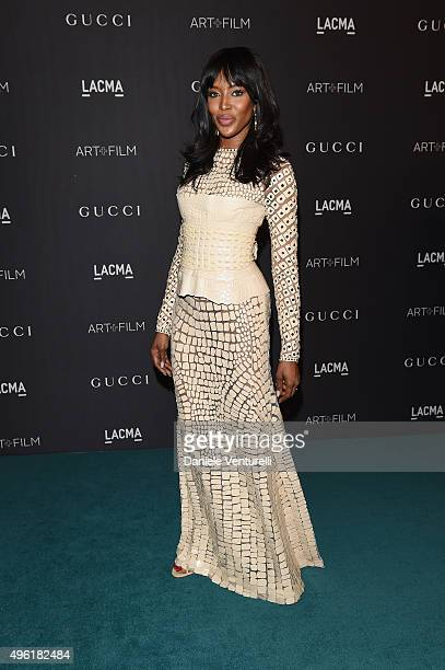 Model Naomi Campbell attends LACMA 2015 ArtFilm Gala Honoring James Turrell and Alejandro G Iñárritu Presented by Gucci at LACMA on November 7 2015...