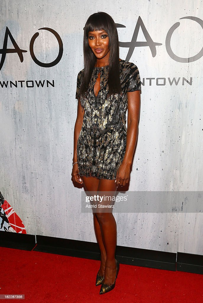 Model Naomi Campbell attends TAO Downtown Grand Opening on September 28, 2013 in New York City.
