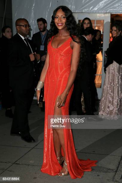Model Naomi Campbell attends the 19th annual amfAR's New York Gala to kick off NY Fashion Week at Cipriani Wall Street on February 8 2017 in New York...