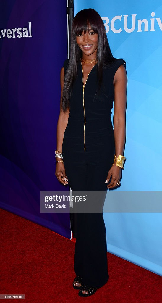 Model Naomi Campbell attends the 2013 TCA Winter Press Tour NBC Universal Day 2 at The Langham Huntington Hotel and Spa on January 7, 2013 in Pasadena, California.