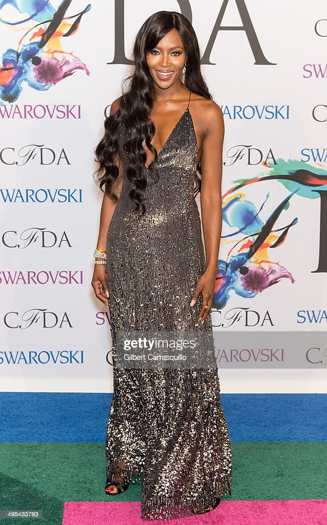 Model Naomi Campbell attends the 2014 CFDA fashion awards at Alice Tully Hall, Lincoln Center on June 2, 2014 in New York City.