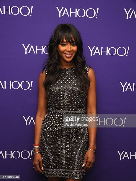 Model Naomi Campbell attends the 2015 Yahoo Digital Content NewFronts at Avery Fisher Hall on April 27 2015 in New York City