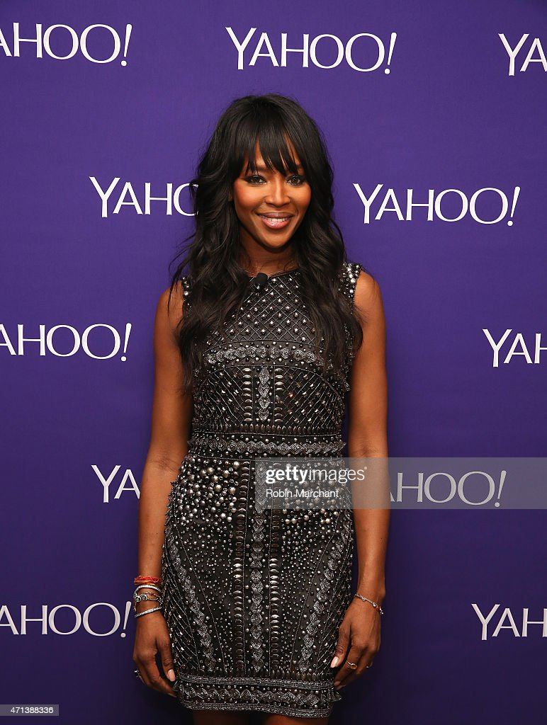 Model <a gi-track='captionPersonalityLinkClicked' href=/galleries/search?phrase=Naomi+Campbell&family=editorial&specificpeople=171722 ng-click='$event.stopPropagation()'>Naomi Campbell</a> attends the 2015 Yahoo Digital Content NewFronts at Avery Fisher Hall on April 27, 2015 in New York City.