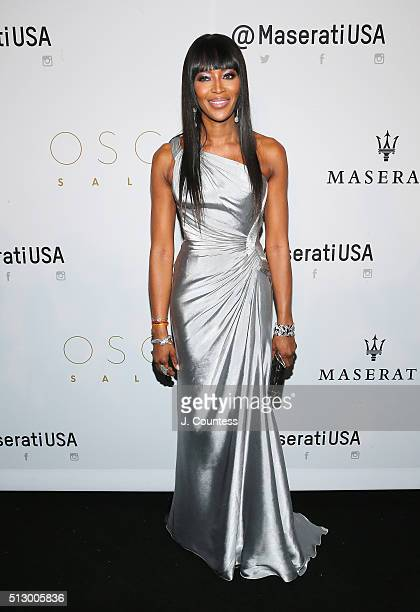 Model Naomi Campbell attends the 2016 Oscar Salute Hosted By Kevin Hart Academy Awards Screening And AfterParty at W Hollywood on February 28 2016 in...