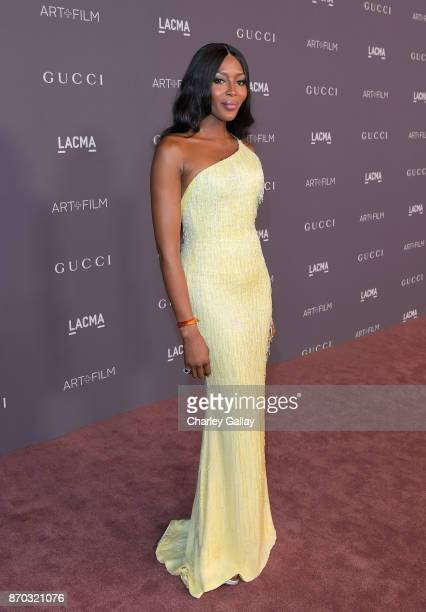 Model Naomi Campbell attends the 2017 LACMA Art Film Gala Honoring Mark Bradford And George Lucas at LACMA on November 4 2017 in Los Angeles...