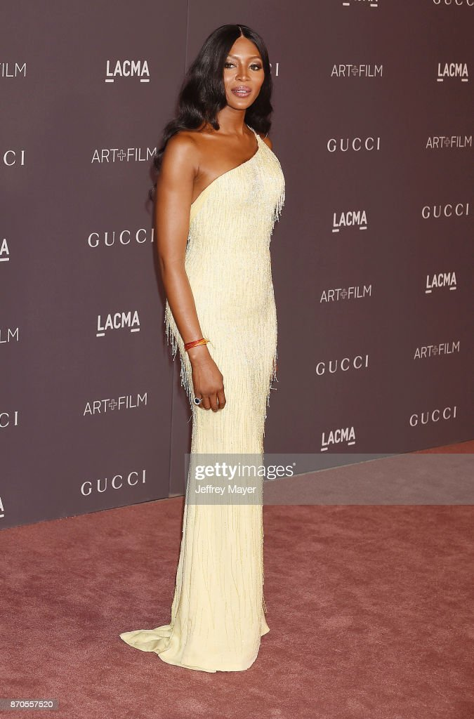 Model Naomi Campbell attends the 2017 LACMA Art + Film Gala Honoring Mark Bradford and George Lucas presented by Gucci at LACMA on November 4, 2017 in Los Angeles, California.