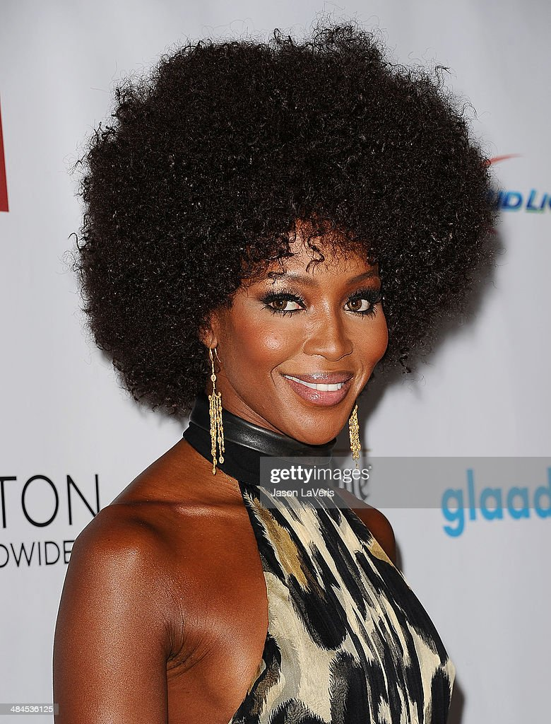 Model <a gi-track='captionPersonalityLinkClicked' href=/galleries/search?phrase=Naomi+Campbell&family=editorial&specificpeople=171722 ng-click='$event.stopPropagation()'>Naomi Campbell</a> attends the 25th annual GLAAD Media Awards at The Beverly Hilton Hotel on April 12, 2014 in Beverly Hills, California.