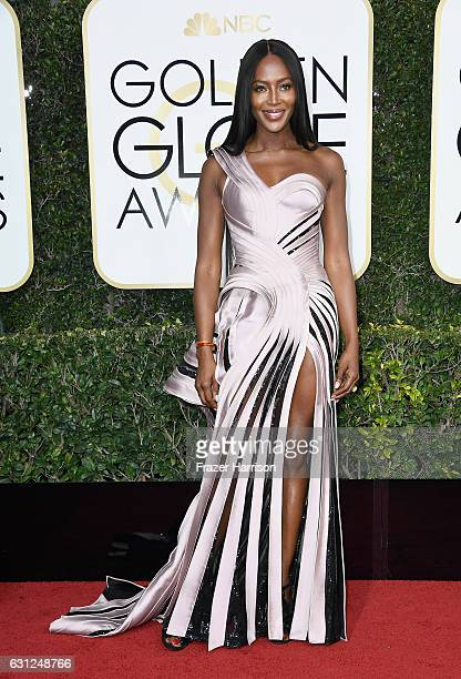 Model Naomi Campbell attends the 74th Annual Golden Globe Awards at The Beverly Hilton Hotel on January 8 2017 in Beverly Hills California