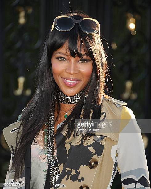 Model Naomi Campbell attends the Burberry 'London in Los Angeles' event at Griffith Observatory on April 16 2015 in Los Angeles California