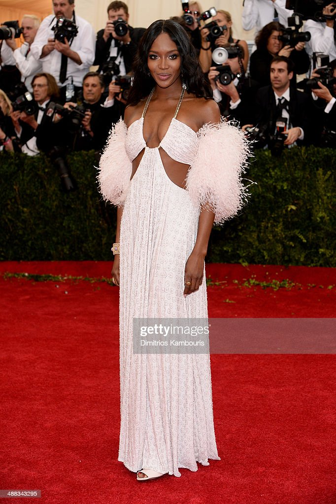 Model Naomi Campbell attends the 'Charles James: Beyond Fashion' Costume Institute Gala at the Metropolitan Museum of Art on May 5, 2014 in New York City.