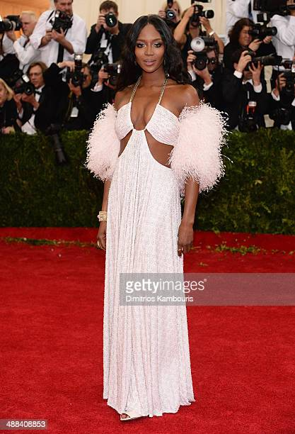 Model Naomi Campbell attends the 'Charles James Beyond Fashion' Costume Institute Gala at the Metropolitan Museum of Art on May 5 2014 in New York...