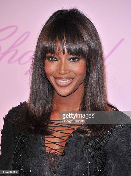 Model Naomi Campbell attends the Chopard 'Happy Diamonds Are A Girl's Best Friend' Party during the 64th Annual Cannes Film Festival at the Martinez...