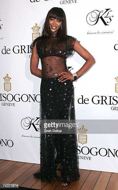 Model Naomi Campbell attends the De Grisogono party at Eden Rock during the 60th International Cannes Film Festival on May 22 2007 in Antibes France