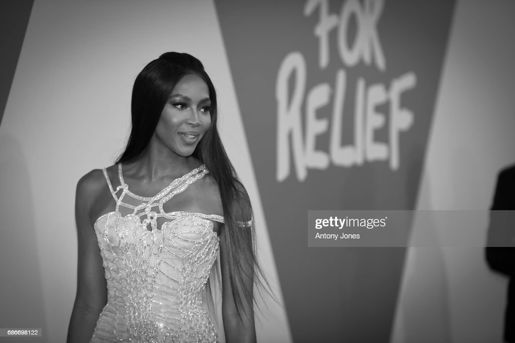 Model Naomi Campbell attends the Fashion for Relief event during the 70th annual Cannes Film Festival at Aeroport Cannes Mandelieu on May 21, 2017 in Cannes, France.