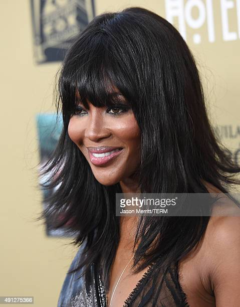 Model Naomi Campbell attends the premiere screening of FX's 'American Horror Story Hotel' at Regal Cinemas LA Live on October 3 2015 in Los Angeles...
