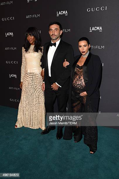 Model Naomi Campbell Designer Riccardo Tisci and TV personality Kim Kardashian attend LACMA 2015 ArtFilm Gala Honoring James Turrell and Alejandro G...