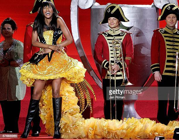 Model Naomi Campbell laughs on stage during the 2006 Life Ball AIDS charity gala on May 20 2006 in Vienna Austria Life Ball has become one of the...