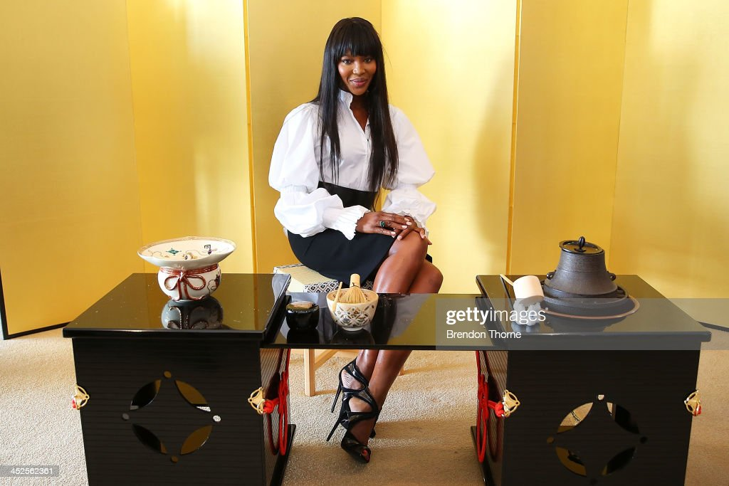 Model <a gi-track='captionPersonalityLinkClicked' href=/galleries/search?phrase=Naomi+Campbell&family=editorial&specificpeople=171722 ng-click='$event.stopPropagation()'>Naomi Campbell</a> poses at a Japanese Tea ceremony held to acknowledge her donation to help with post-tsunami rebuild at the Consulate General of Japan on November 30, 2013 in Sydney, Australia.