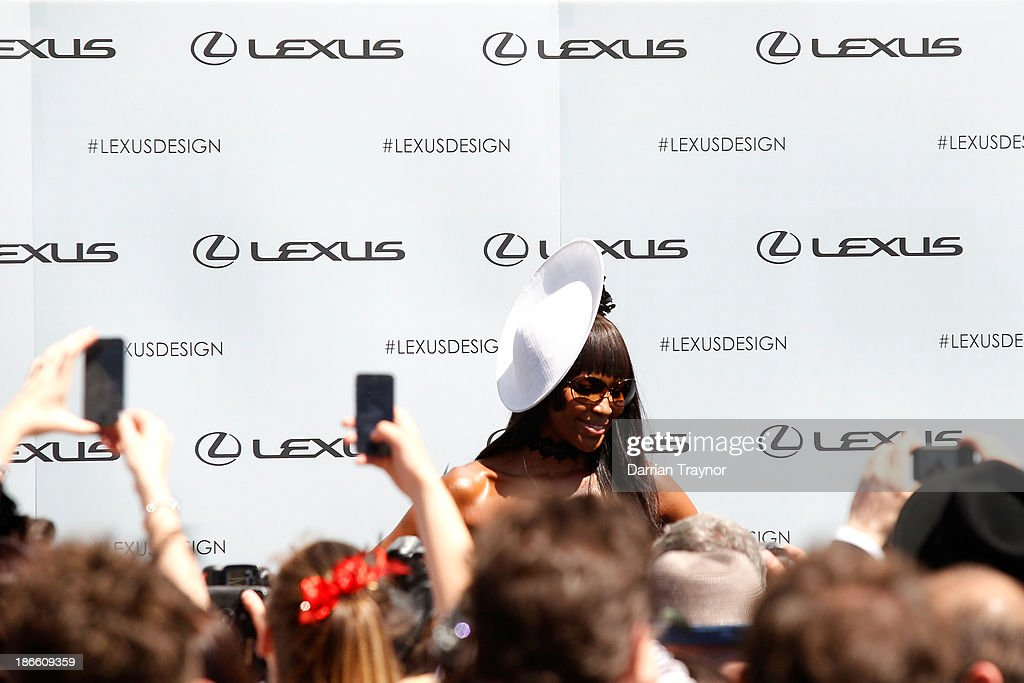Model <a gi-track='captionPersonalityLinkClicked' href=/galleries/search?phrase=Naomi+Campbell&family=editorial&specificpeople=171722 ng-click='$event.stopPropagation()'>Naomi Campbell</a> poses at the Lexus Marquee on Victoria Derby Day at Flemington Racecourse on November 2, 2013 in Melbourne, Australia.