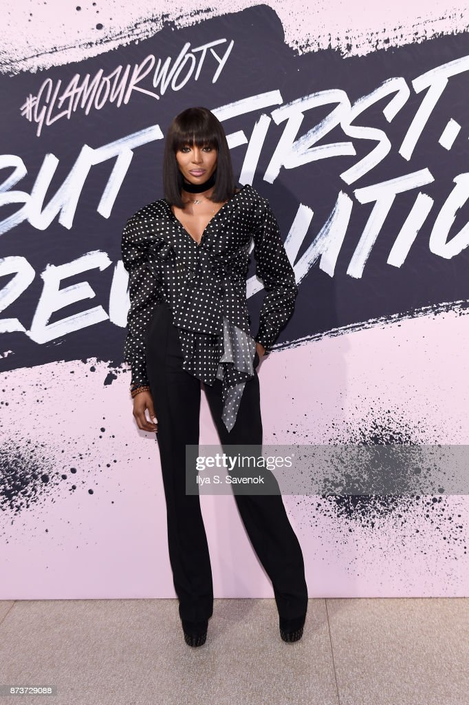 Model Naomi Campbell poses during Glamour Celebrates 2017 Women Of The Year Live Summit at Brooklyn Museum on November 13, 2017 in New York City.