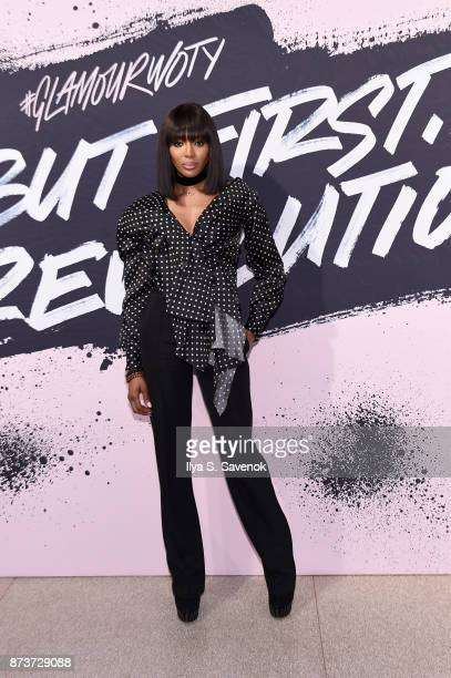Model Naomi Campbell poses during Glamour Celebrates 2017 Women Of The Year Live Summit at Brooklyn Museum on November 13 2017 in New York City
