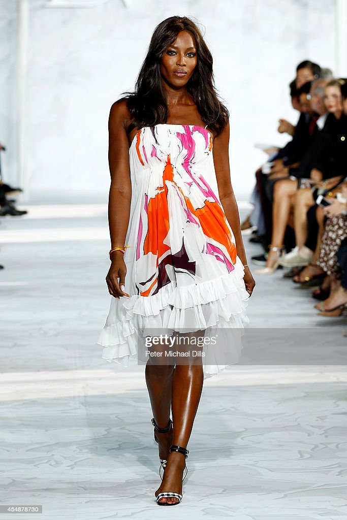Model <a gi-track='captionPersonalityLinkClicked' href=/galleries/search?phrase=Naomi+Campbell&family=editorial&specificpeople=171722 ng-click='$event.stopPropagation()'>Naomi Campbell</a> walks the runway at the Diane Von Furstenberg fashion show during Mercedes-Benz Fashion Week Spring 2015 at Spring Studios on September 7, 2014 in New York City.
