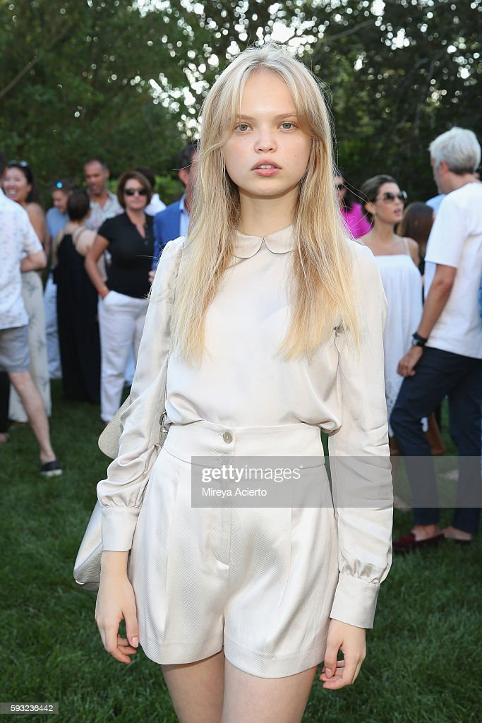 Model Nastya Siten attends Daily Front Row's 'Luxury and Love' party at Inn at Windmill Lane on August 20 2016 in Amagansett New York