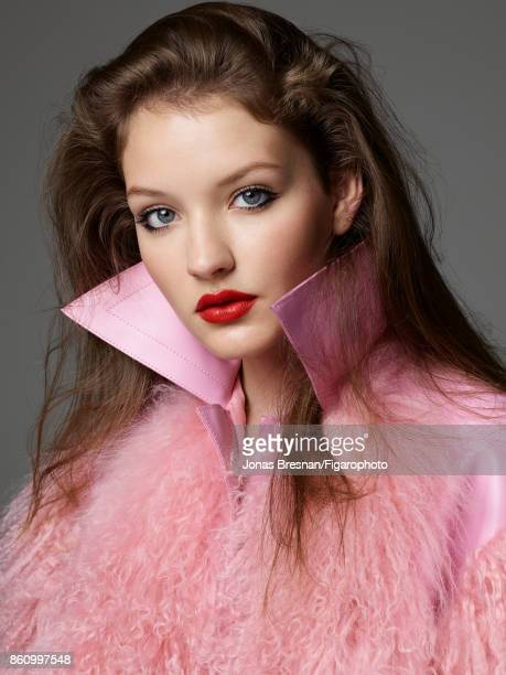 Model poses at a beauty and fashion shoot for Madame Figaro on July 17 2017 in Paris France Makeup by Dior Coat PUBLISHED IMAGE CREDIT MUST READ...