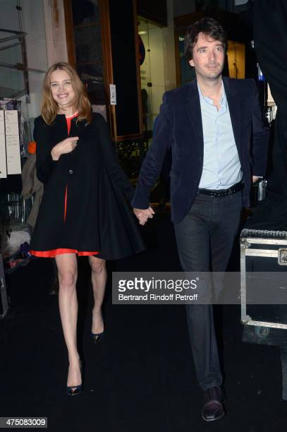 Model Natalia Vodianova and Antoine Arnault attend the ETAM show as part of the Paris Fashion Week Womenswear Fall/Winter 20142015 on February 25...