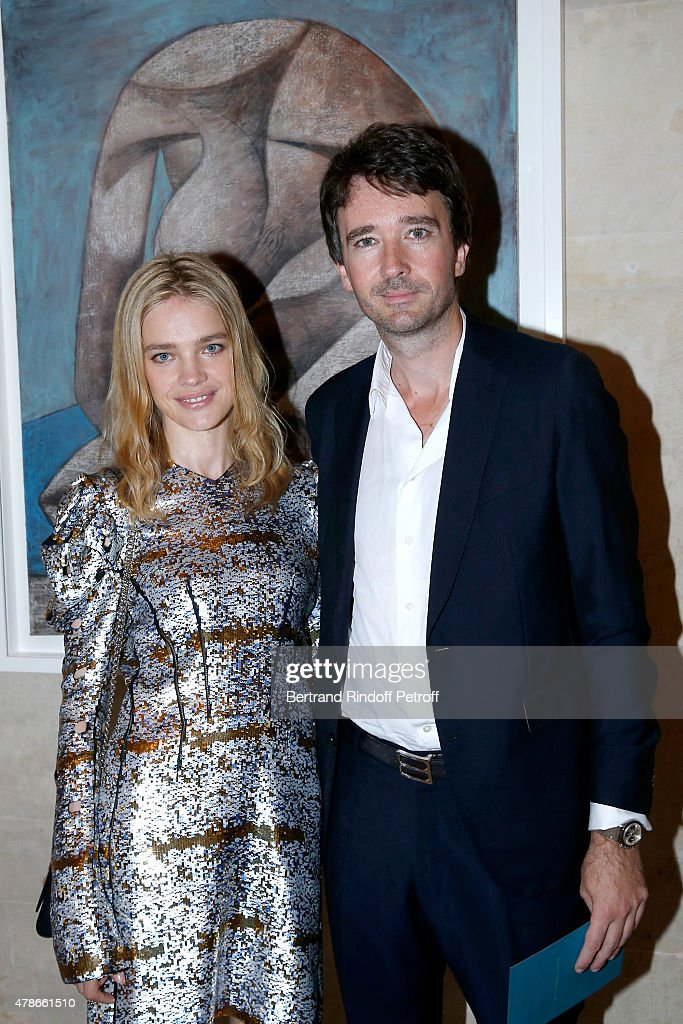 Model <a gi-track='captionPersonalityLinkClicked' href=/galleries/search?phrase=Natalia+Vodianova&family=editorial&specificpeople=203265 ng-click='$event.stopPropagation()'>Natalia Vodianova</a> and General manager of Berluti <a gi-track='captionPersonalityLinkClicked' href=/galleries/search?phrase=Antoine+Arnault&family=editorial&specificpeople=676045 ng-click='$event.stopPropagation()'>Antoine Arnault</a> attend the Berluti Menswear Spring/Summer 2016 show as part of Paris Fashion Week. Held at Musee Picasso on June 26, 2015 in Paris, France.