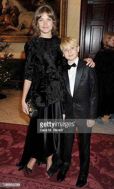 Model Natalia Vodianova and son Lucas attend the official UK launch of the Gift Of Life Foundation at The Wallace Collection on January 13 2012 in...