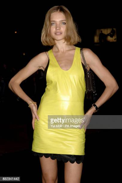 Model Natalia Vodianova arrives for the Armani show during the London Fashion Week Spring/Summer 2007 Collections at the Earls Court exhibition...