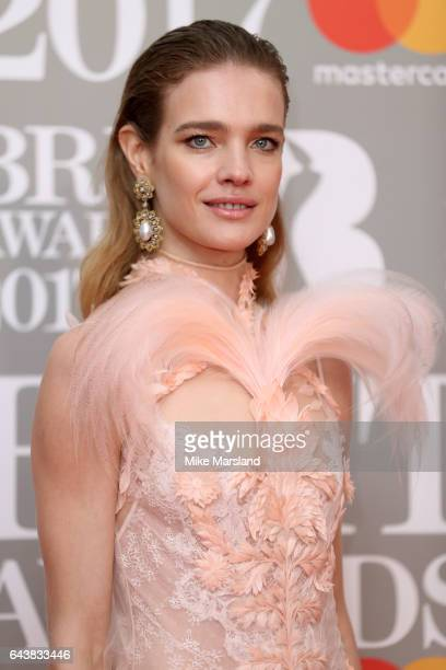 Model Natalia Vodianova attends The BRIT Awards 2017 at The O2 Arena on February 22 2017 in London England