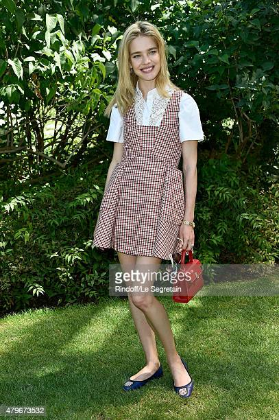 Model Natalia Vodianova attends the Christian Dior show as part of Paris Fashion Week Haute Couture Fall/Winter 2015/2016 on July 6 2015 in Paris...