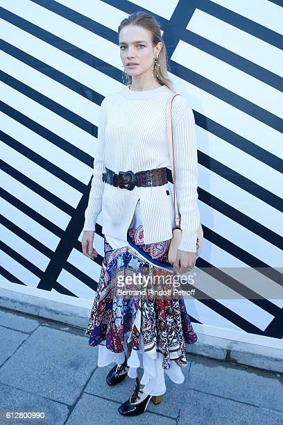 Model Natalia Vodianova attends the Louis Vuitton show as part of the Paris Fashion Week Womenswear Spring/Summer 2017 on October 5 2016 in Paris...